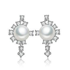 Vackra Och Koppar/Zirkon/Platina med Pärla Damer' örhängen