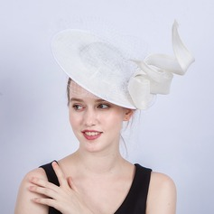 Dames Handgemaakte/Heetste Batist met strik/Tule Fascinators/Kentucky Derby Hats