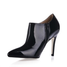 Patent Leather Stiletto Heel Closed Toe Ankle Boots (055013666)