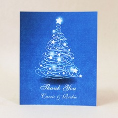 Personalized Star Design Hard Card Paper Thank You Cards (Set of 50)