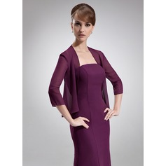 3/4-Length Sleeve Chiffon Special Occasion Wrap (013016917)