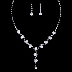 Charming Rhinestones With Pearl Ladies' Jewelry Sets