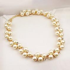 Vakkert Legering Imitert Perle med Imitert Perle Damene ' Fashion Kjede
