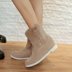 Women's Suede Flat Heel Boots Snow Boots With Split Joint shoes