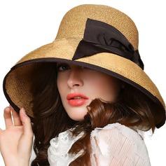 Señoras' Hermoso Ratán paja con Bowknot Sombrero de paja/Derby Kentucky Sombreros