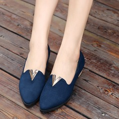 Women's Suede Low Heel Closed Toe shoes