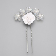 Exquisite/Handmade Imitation Pearls/Polymer Clay Hairpins (Sold in single piece)