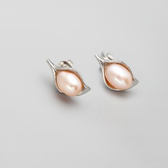 Classic Alloy With Imitation Pearls Ladies' Earrings