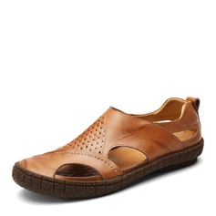 Men's Real Leather Casual Men's Slippers (263171693)