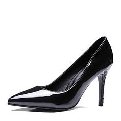 Kvinder PU Stiletto Hæl Pumps Lukket Tå sko