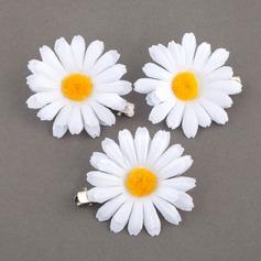 Anhänger Stoff Blumen und Federn