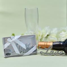 Evigt älskar/Söt kärlek/Härlig Zink Legering Flasköppnare (Säljs i ett enda stycke)