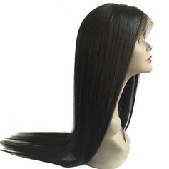 5A Vierge/Remy Tout droit Cheveux humains Perruques avant en dentelle (Vendu dans une seule pièce) 90g