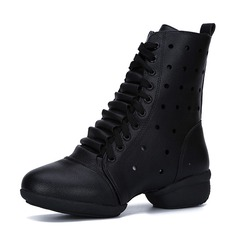 Women's Microfiber Leather Boots Dance Boots Dance Shoes