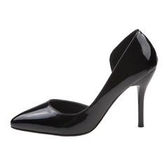 Лакированная кожа Высокий тонкий каблук На каблуках Закрытый мыс обувь