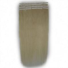 5A Virgin / remy Rakt människohår Tape i hårförlängningar 20PCS 30g