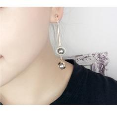 Chic Fauxen Pärla koppar med Oäkta Pearl Damer' Mode örhängen