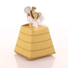 Honeybee Favor Boxes With Ribbons (Set of 12)