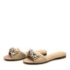Kvinder PVC Flad Hæl sandaler Fladsko Tøfler med Rhinsten Bowknot sko