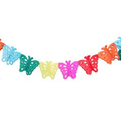 Colorful Butterfly Design Paper Banner (36 Pieces)