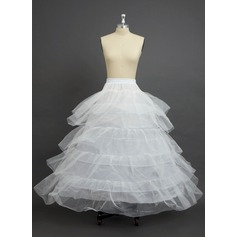 Women Nylon/Tulle Netting Floor-length 5 Tiers Petticoats (037034009)