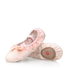 Kids' Canvas Lace Flats Ballet With Bowknot Dance Shoes