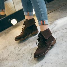 Mulheres Couro Salto baixo Sem salto Plataforma Botas com Outros sapatos