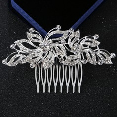 Ladies Glamourous Alloy Combs & Barrettes With Rhinestone (Sold in single piece) (042163069)