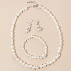 Elegante Aleación/Diamantes de imitación/La perla de faux Señoras' Sistemas de la joyería