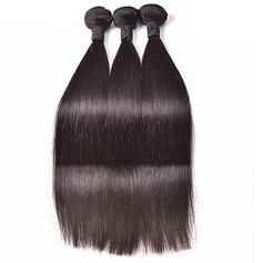 4A Nicht remy Gerade Menschliches Haar Geflecht aus Menschenhaar (Einzelstück verkauft) 50g