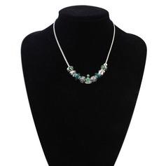 Уникальный смола медь женские ожерелье