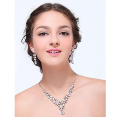 Shining Alloy With Rhinestone Ladies' Jewelry Sets (011125317)