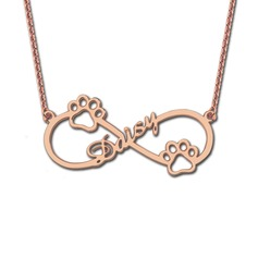 Custom 18k Rose Gold Plated Infinity Name Necklace - Christmas Gifts
