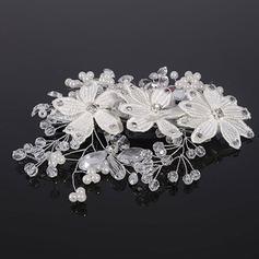 Elegant Crystal/Legering/Imiteret Pearl Kamme & Hårspænder (Sælges i et enkelt stykke)