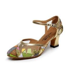 Женщины кожа На каблуках На каблуках Бальные танцы с пряжка Обувь для танцев