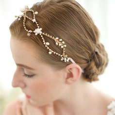 Glamorosa Rhinestone/Aleación/Perlas de agua dulce Diademas