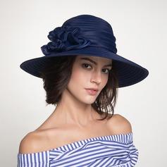 Dames Beau/Mode Polyester avec Une fleur Disquettes Chapeau/Chapeaux de plage / soleil