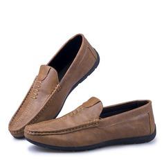 Menn Lær Avslappet Pen sko Loafers til herre
