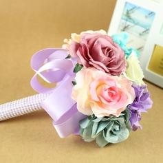 Elegante Redondo Flores secas Buquês de noiva -