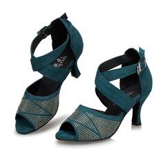 Femmes Suède Talons Sandales Latin avec Ouvertes Chaussures de danse