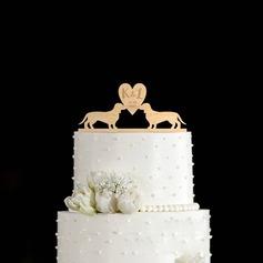 Personalizzato Amano il design Legno Decorazioni per torte