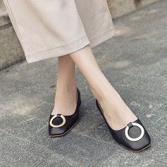 Women's PU Low Heel Closed Toe With Buckle shoes