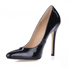 Patent Leather Stiletto Heel Closed Toe Pumps