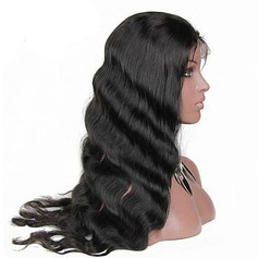 4A Nicht remy Körperwelle Menschliches Haar Spitze Front Perücken