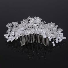 Élégante Cristal/De faux pearl Des peignes et barrettes (Vendu dans une seule pièce)