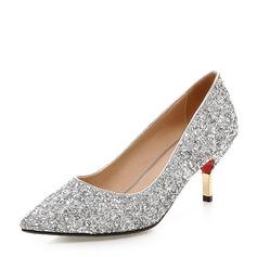 Vrouwen Sprankelende Glitter Stiletto Heel Pumps Closed Toe met Anderen schoenen