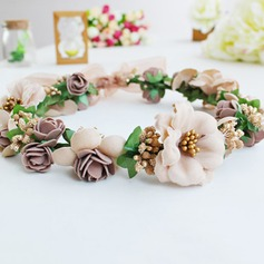 Hermoso Flores de seda Diademas