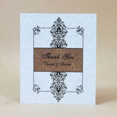 Personalized Floral Design Hard Card Paper Thank You Cards (Set of 50)
