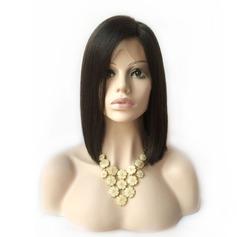 Straight Human Hair Parykar Hel-spets