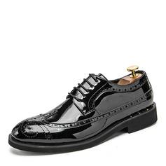 Homens Couro Aplicação de renda Casual Sapatos De Vestido Oxfords Masculinos (259208034)